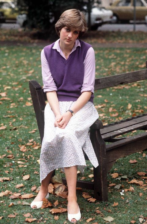 Lady Diana At Kindergarten Where She Works
