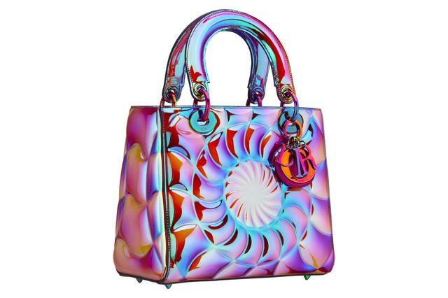christian dior, dior, lady dior, lady dior handbag, dior handbag, judy chicago, iridescent, maria grazia chiuri, fashion, purse, handbag, accessories, accessory