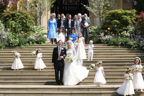 Lady Gabriella Windsor and Thomas Kingston on their wedding day