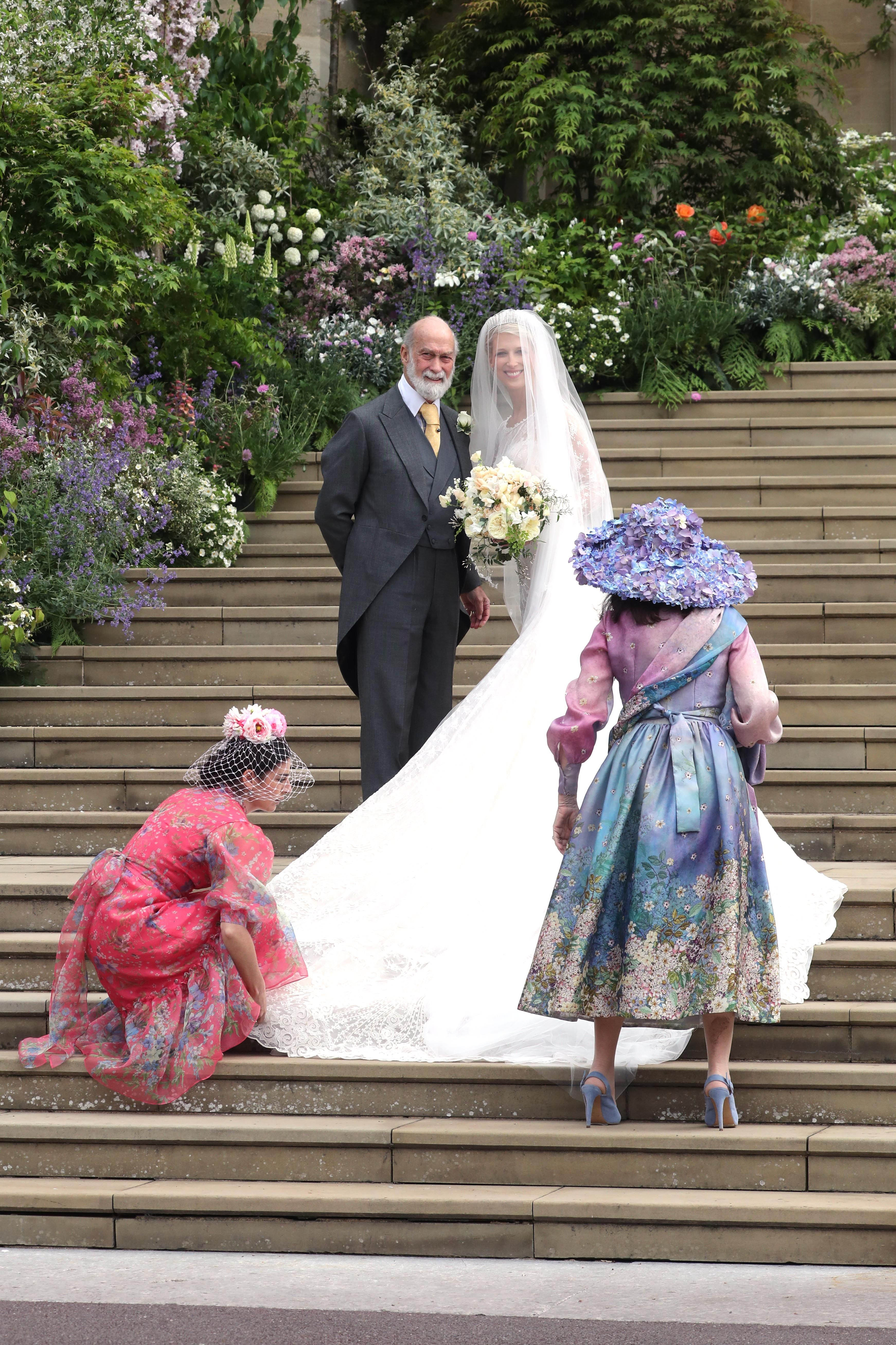 Luisa Beccaria On Lady Gabriella Windsor S Wedding Dress Ella