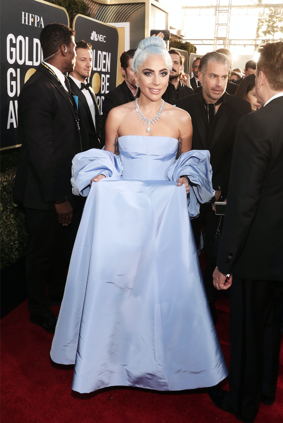 Lady Gaga arrives to the 76th Annual Golden Globe Awards