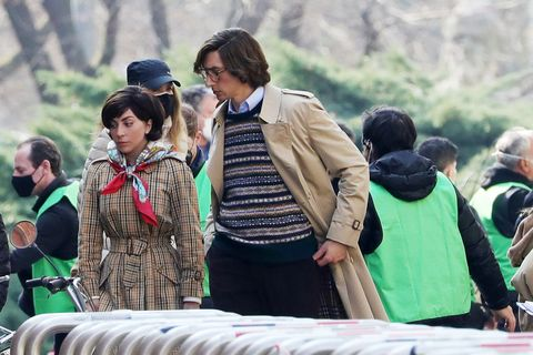 """shooting of """"house of gucci"""" in milan"""