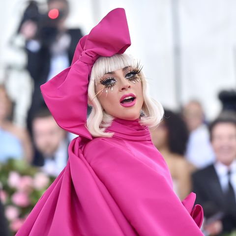 57a729a4e3 Lady Gaga Looks Like a Doll in a Giant Pink Brandon Maxwell Dress at the  2019 Met Gala