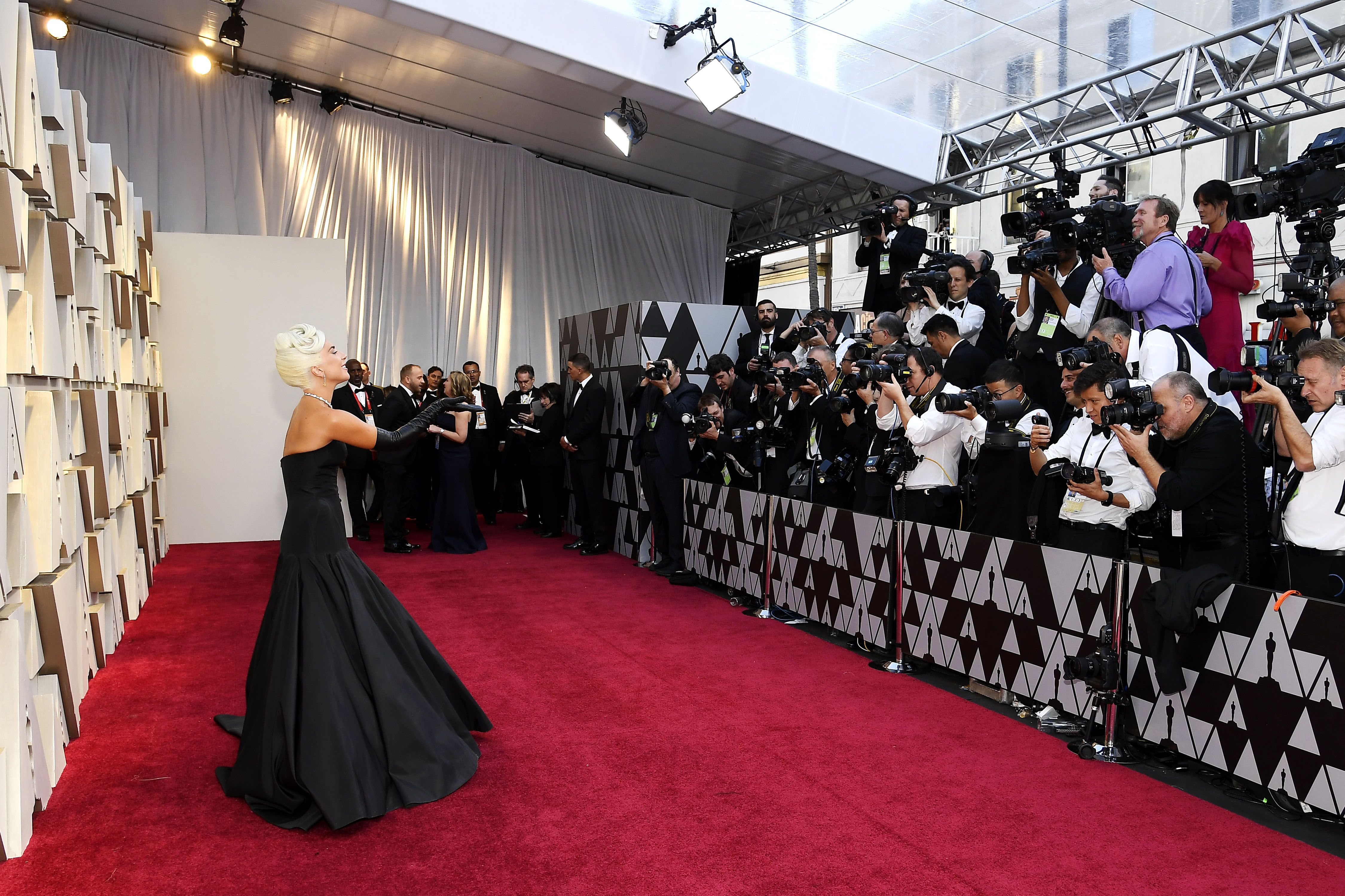 The Oscars red carpet is a secret shade of red which is said to flatter A-listers