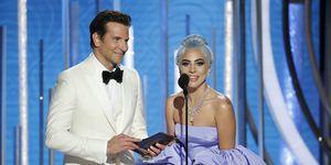 Bradley Cooper en Lady Gaga bij de Golden Globes 2019