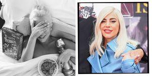 Lady Gaga golden globe next day