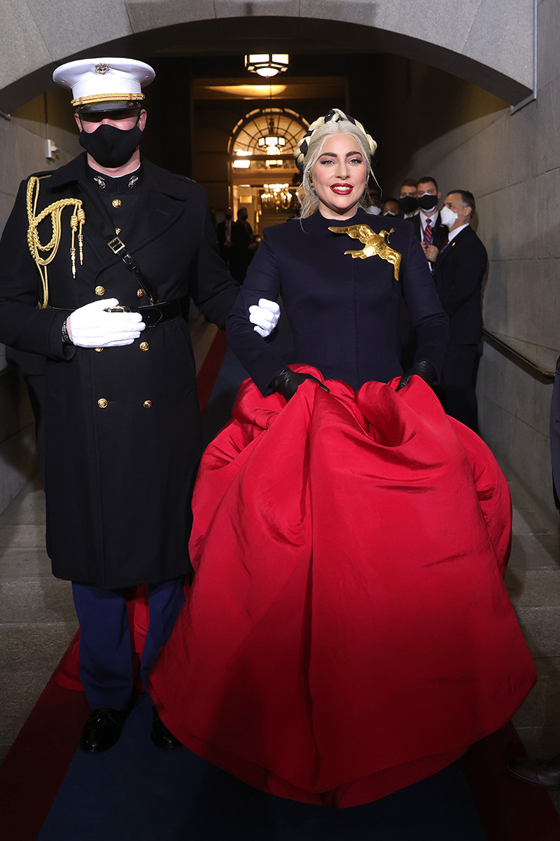 Best Twitter reactions to Lady Gaga's inauguration dress