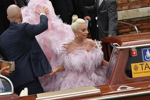 Lady Gaga Wears Giant Pink Gown to Venice Film Festival\'s A Star Is ...