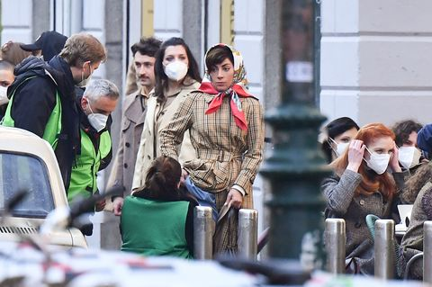 """""""House Of Gucci"""" Shooting In Milan"""