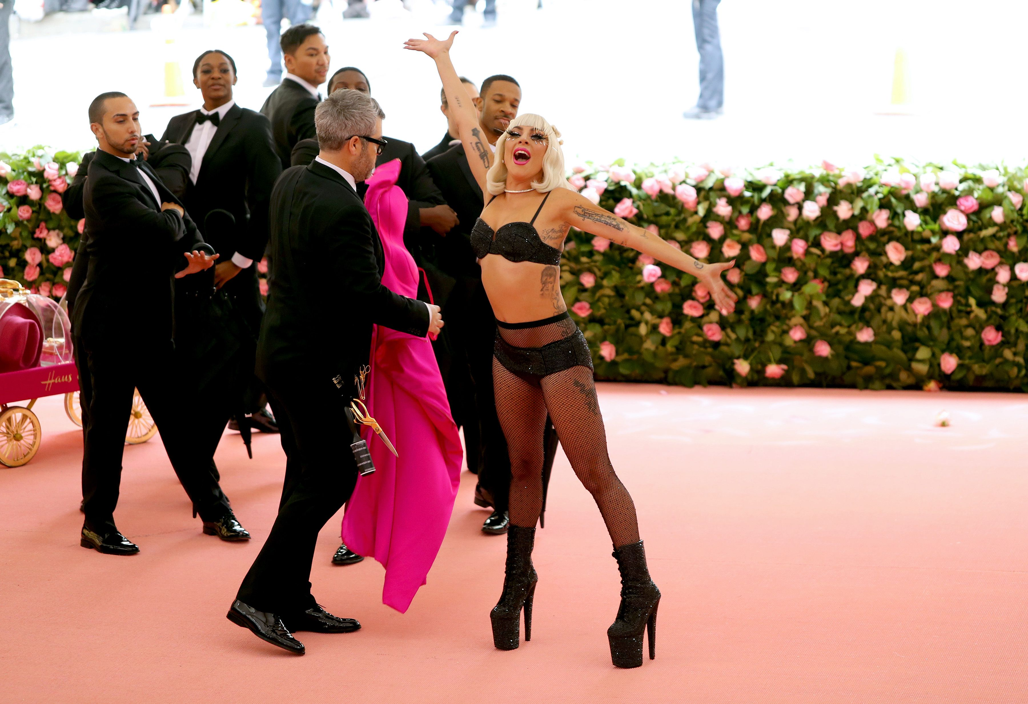 Lady Gaga and Brandon Maxwell attend The 2019 Met Gala Celebrating Camp: Notes on Fashion