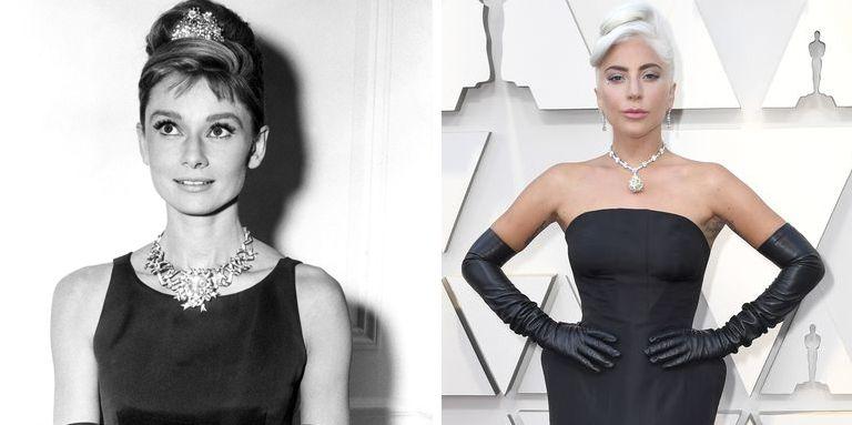 f18f8c7beb31 Lady Gaga homenajea a Audrey Hepburn con su vestido negro y su collar de  diamantes en los Oscar 2019