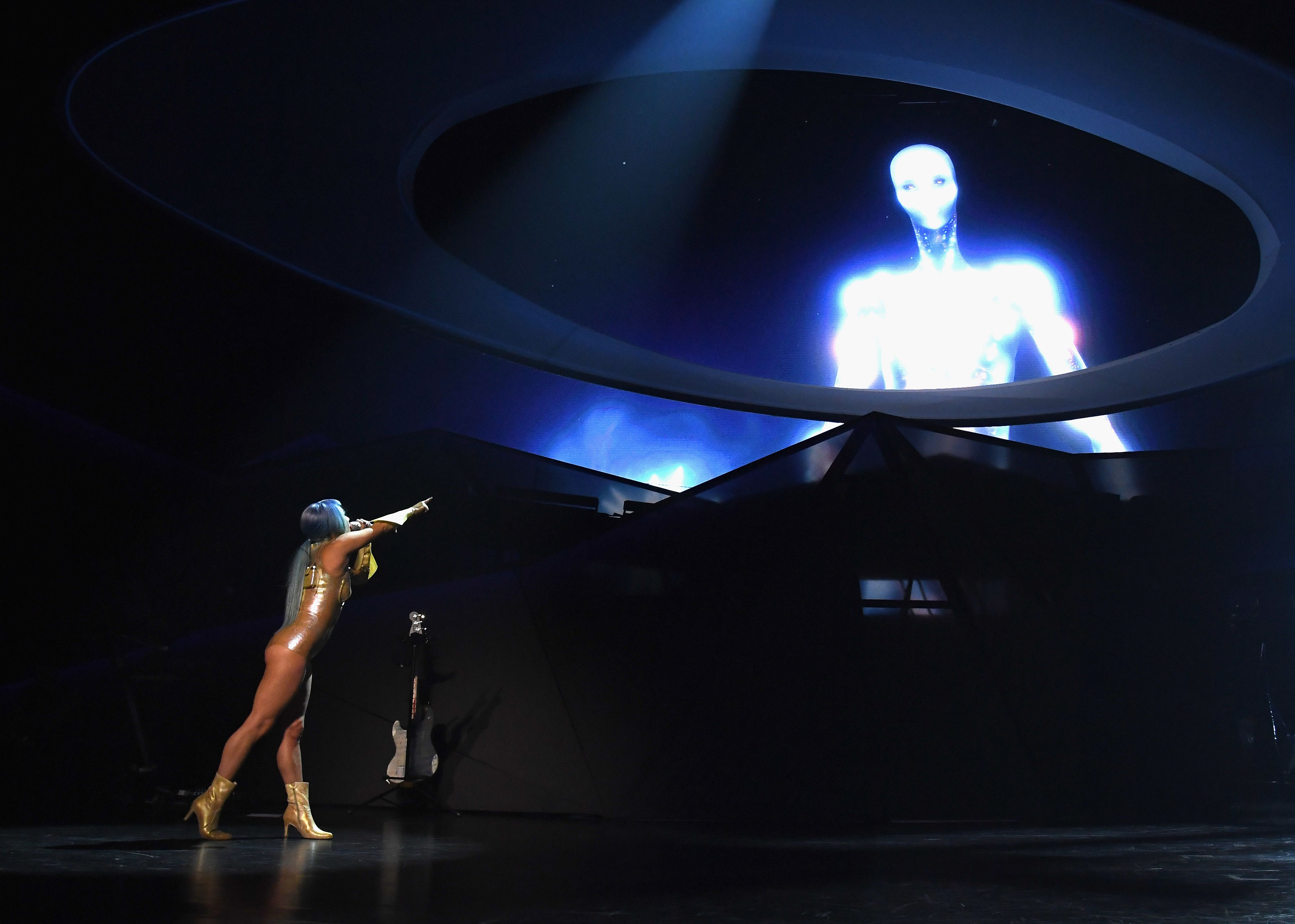 'LADY GAGA ENIGMA' Performs At Park MGM Las Vegas - New Year's Eve