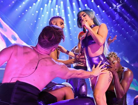 """""""LADY GAGA ENIGMA"""" Performs At Park MGM Las Vegas - New Year's Eve"""