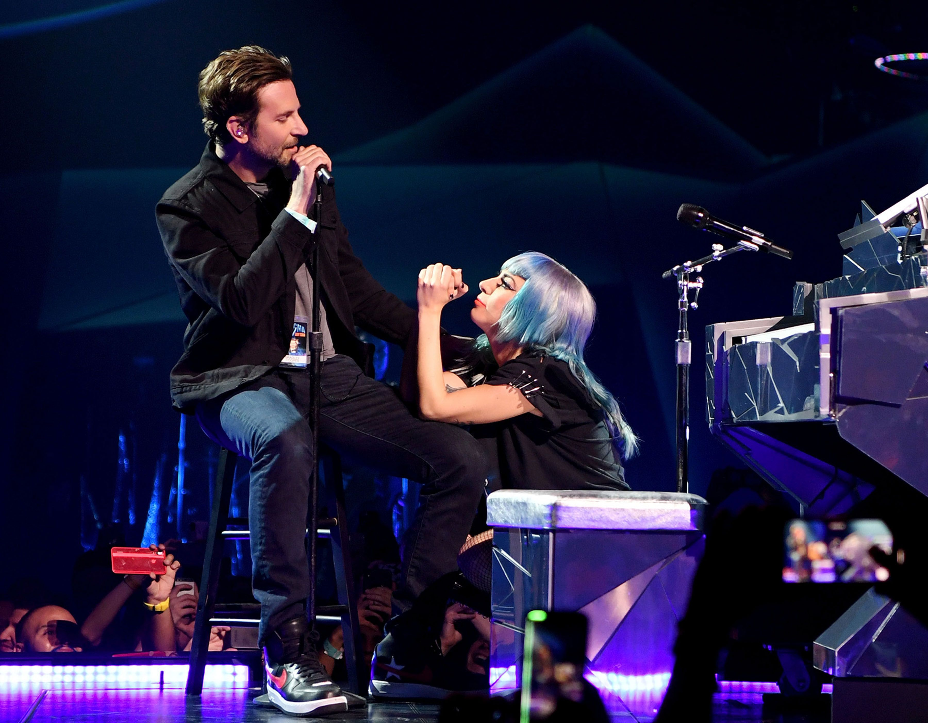 Lady Gaga And Bradley Cooper At Park Theater At Park MGM In Las Vegas