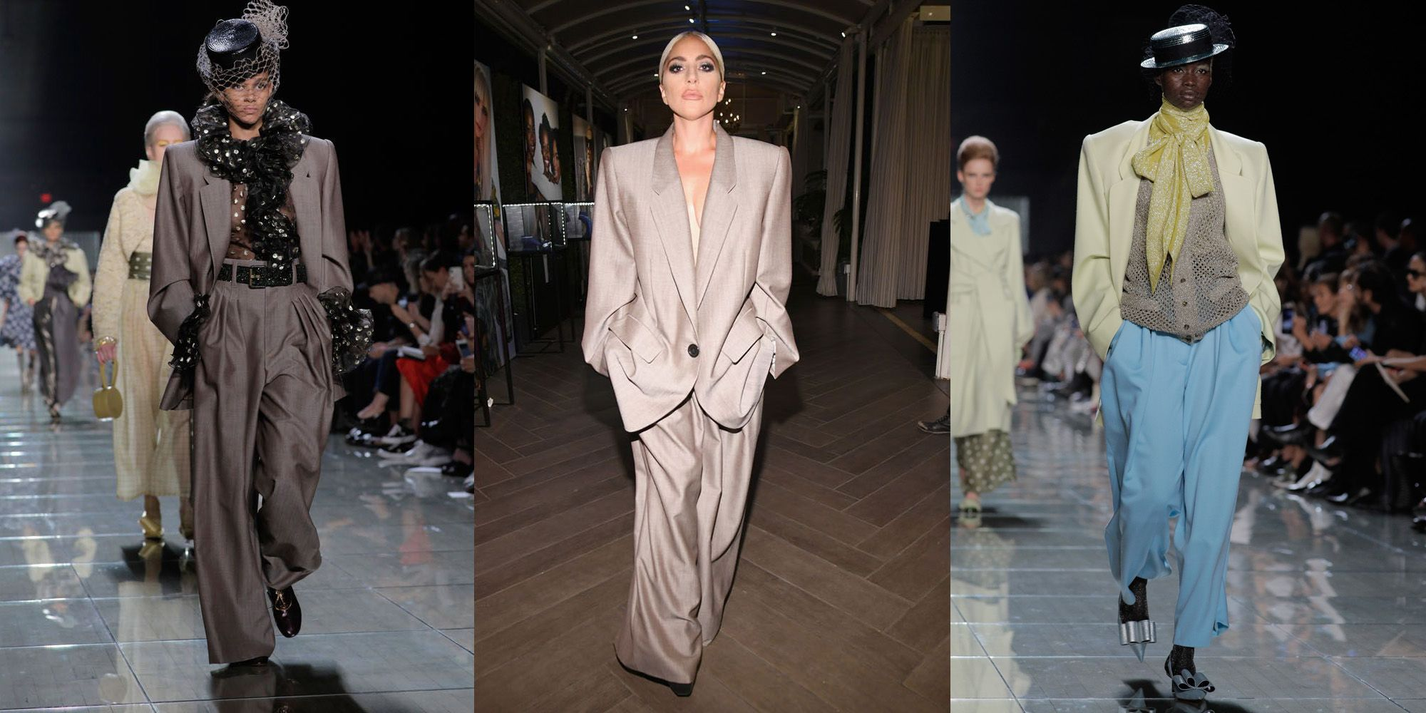lady gaga powersuit marc jacobs modetrend winter 2018/2019