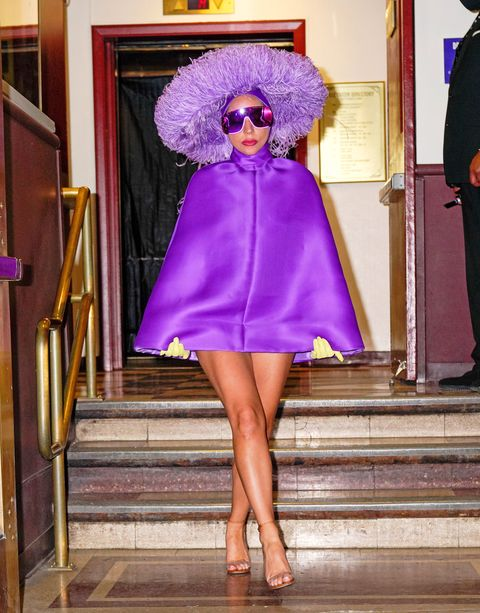 lady gaga out in valentino haute couture