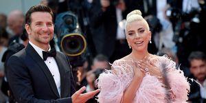 Lady Gaga met roze haar