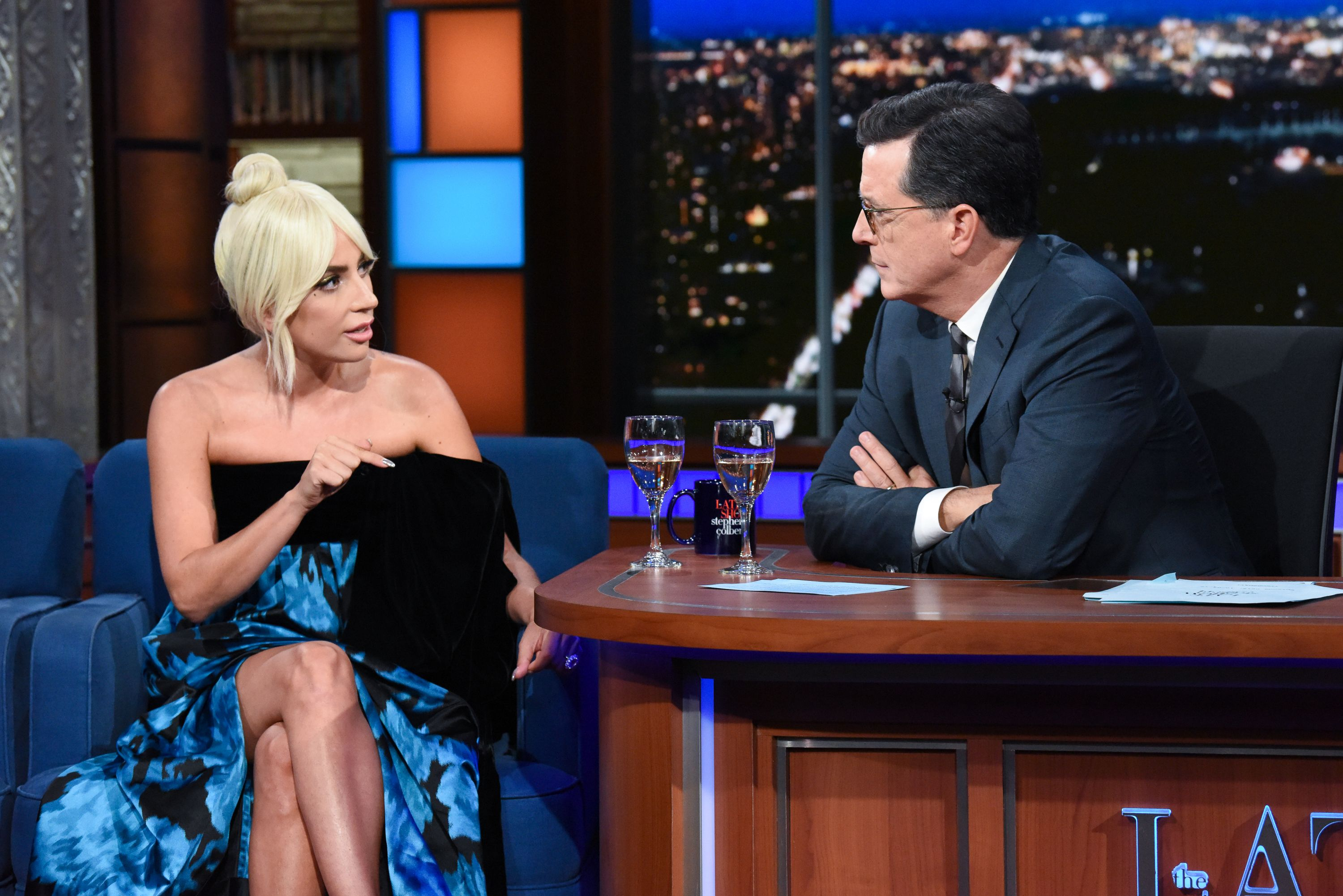 Lady Gagas Stunning Defense of Christine Blasey Ford Leaves Stephen Colbert Speechless