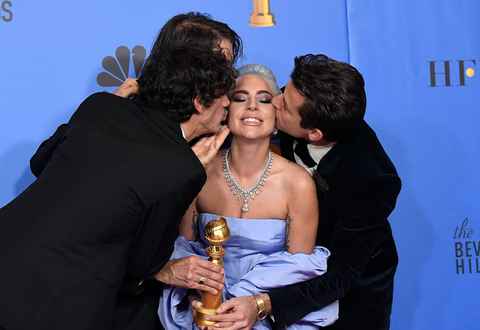 Lady Gaga tears up as she wins Golden Globe for A Star is Born's 'Shallow'