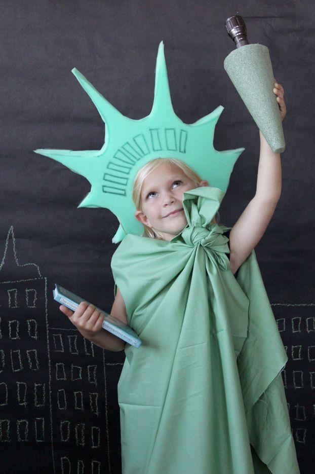 lady libertyhomemade halloween costume for kids