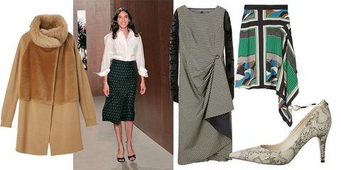 Clothing, Fashion, Footwear, Fashion model, Outerwear, Pencil skirt, Dress, Shoe, Fashion design, Style,