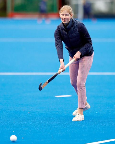 lady louise windsor The Countess Of Wessex Attends A Hockey Training Session At Bisham Abbey National Sports Centre