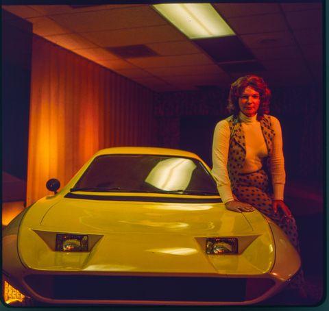 liz carmichael and the dale automotbile