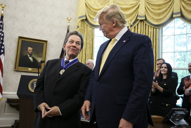 washington, dc   june 19 president donald trump presents the presidential medal of freedom to arthur laffer in the oval office of the white house on june 19, 2019 in washington, dcphoto by oliver contrerasfor the washington post via getty images