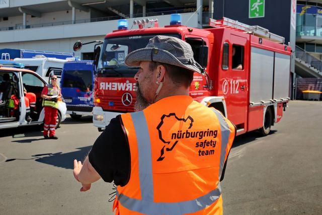 nurburgring staff help direct flood relief efforts
