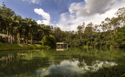 lago ornamental e galeria true rouge   inhotim