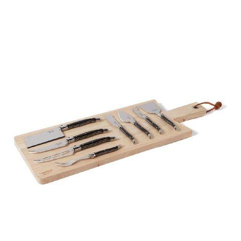 laguiole style de vie kaasmes set van 8 en plank 50 cm
