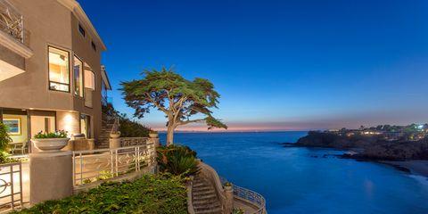 Sky, Blue, Property, Sea, Real estate, Azure, Home, House, Coast, Tree,