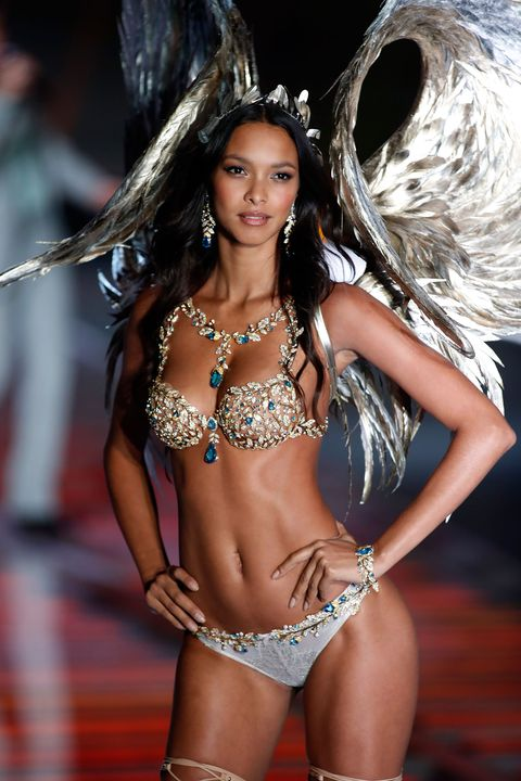 Lais Ribeiro wearing the Victoria's Secret fantasy bra