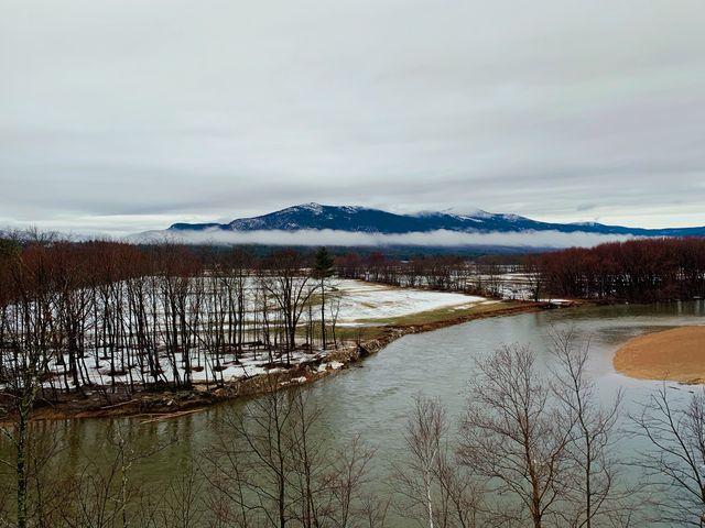 lake convay in winter, conway, arkansas, usa