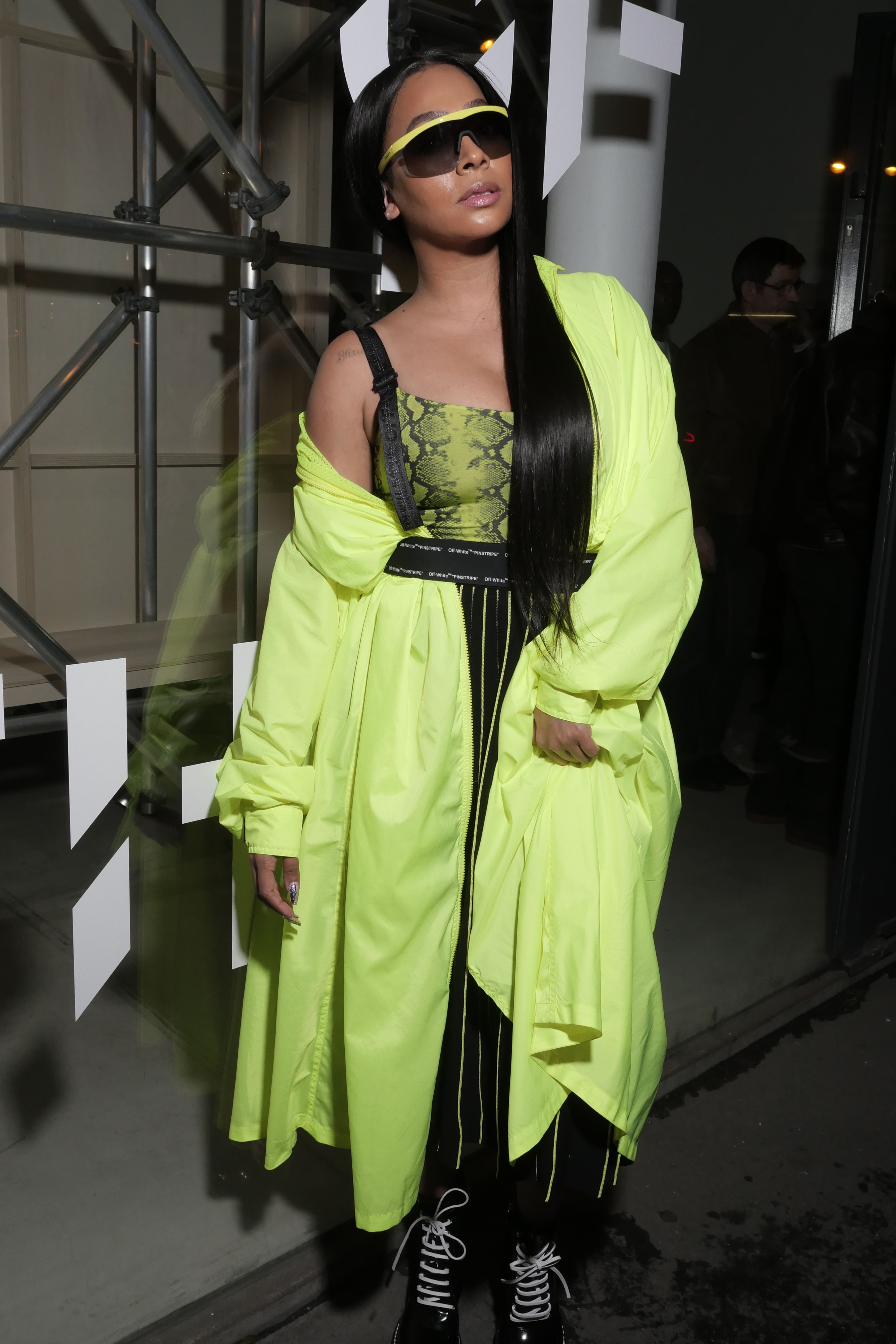 """Lala Anthony Lala Anthony at Byredo's showcase of their """"Rare Byrds Of A Feather"""" collection during Paris Fashion Week on February 28."""