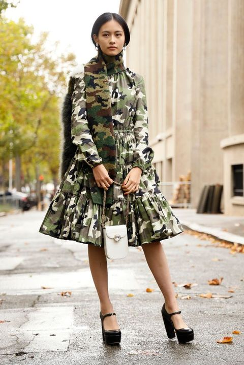 Clothing, Street fashion, Fashion, Photograph, Fashion model, Footwear, Snapshot, Outerwear, Coat, Dress,
