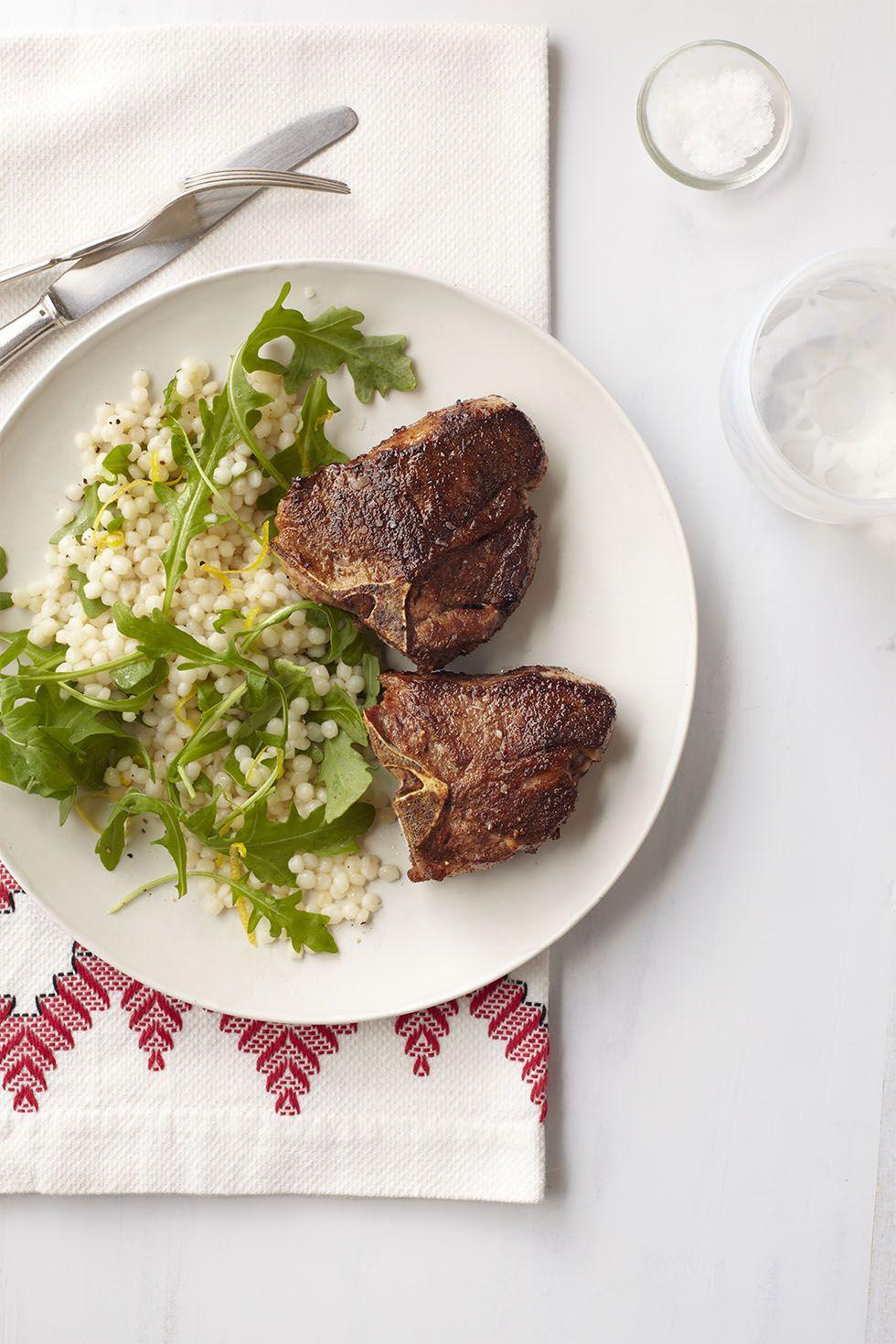 lamb chops lemon couscous salad