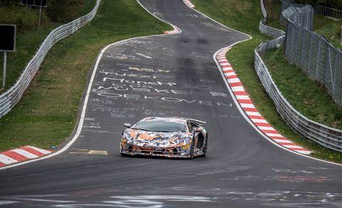 Lamborghini Aventador at the Nurburgring
