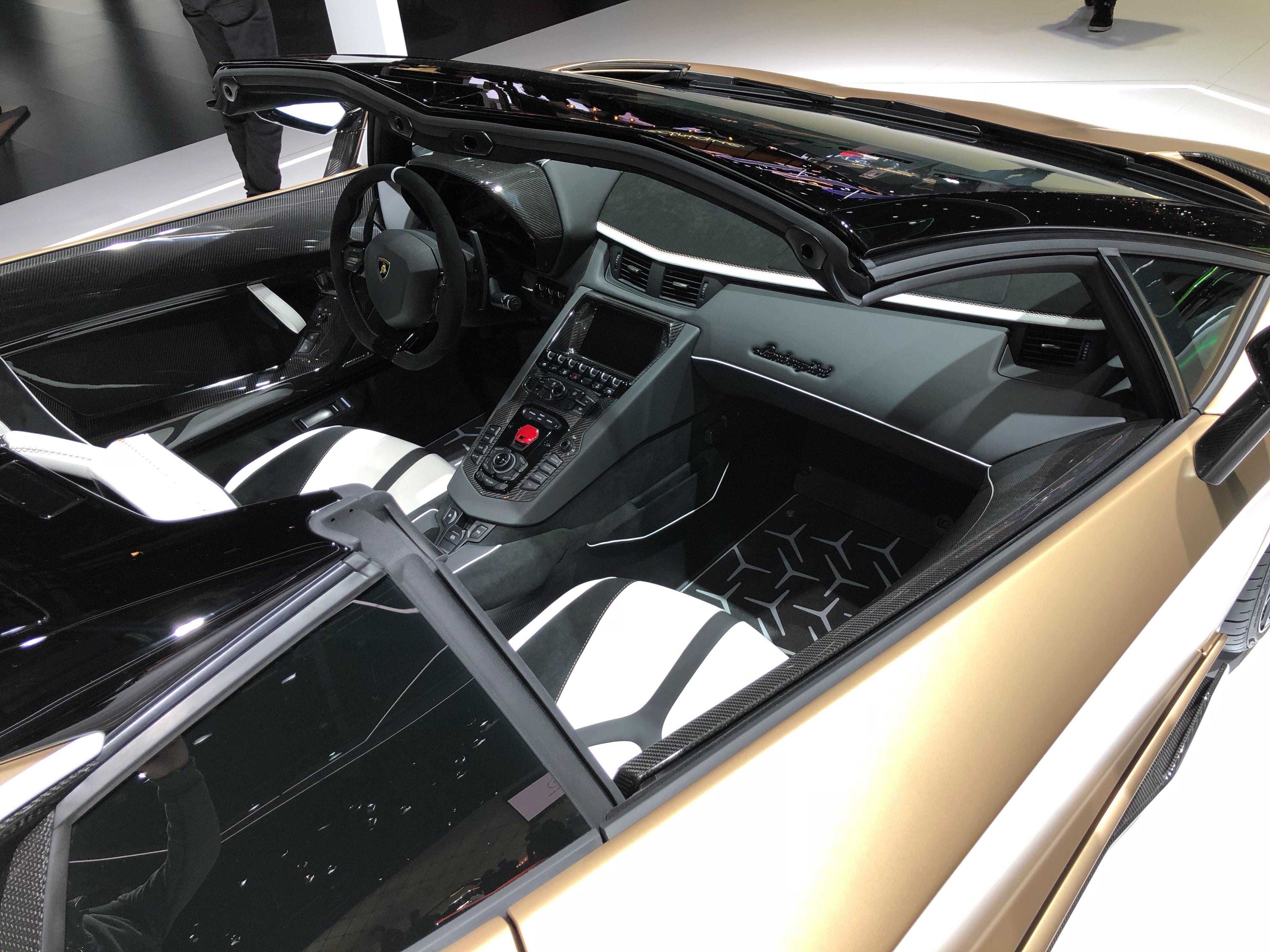 Photos of the Lamborghini Aventador SVJ Roadster