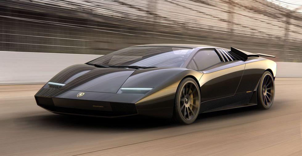 Lamborghini Countach 50 Omaggio: Así sería el clásico supercar en el siglo XXI