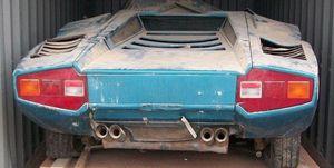 Lamborghini Countach Periscopio abandonado