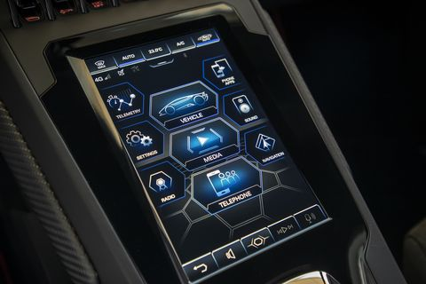 Lamborghini Huracan EVO center console screen