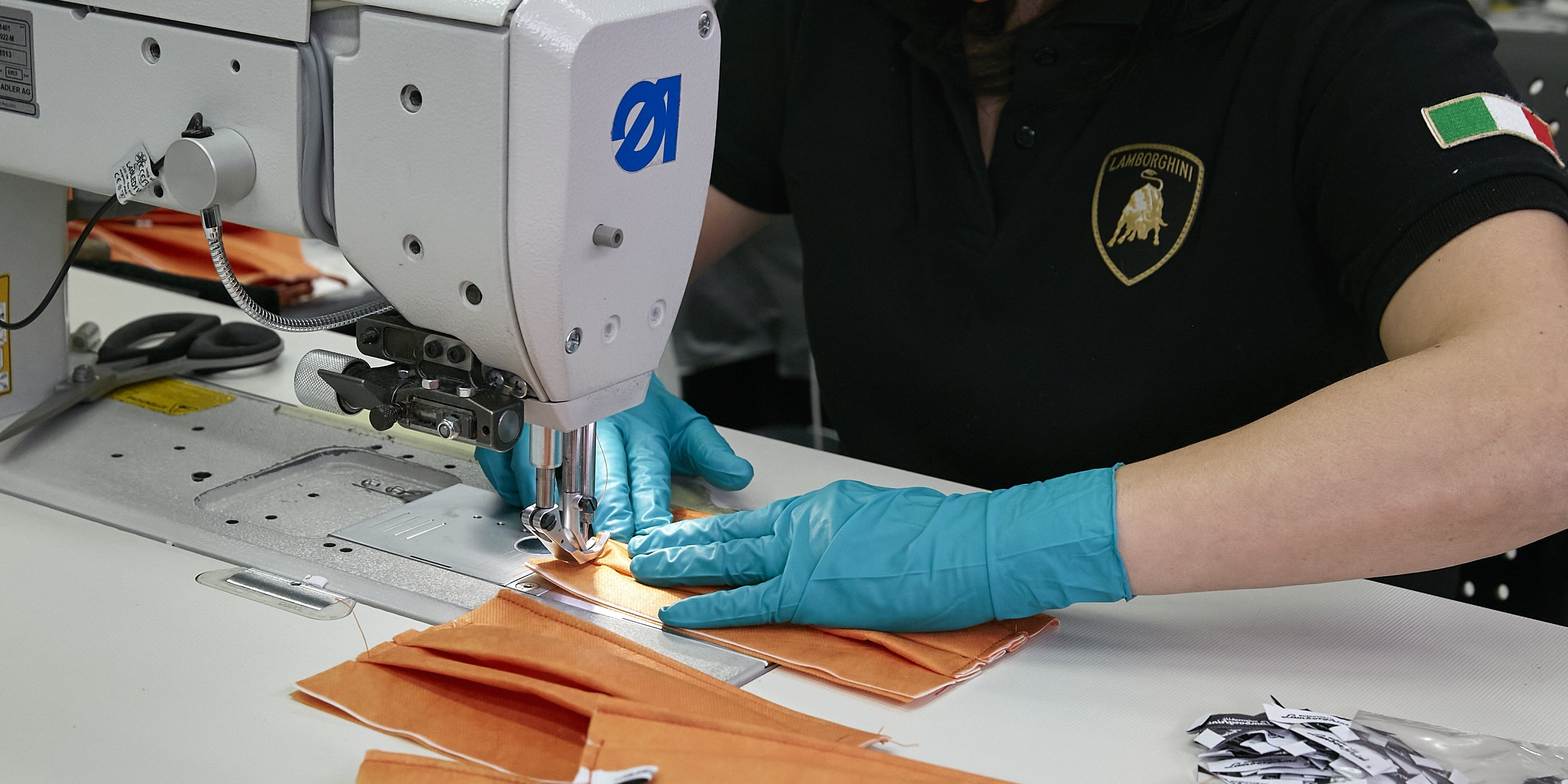 Lamborghini is Hand Stitching Masks and 3D-Printing Face Shields