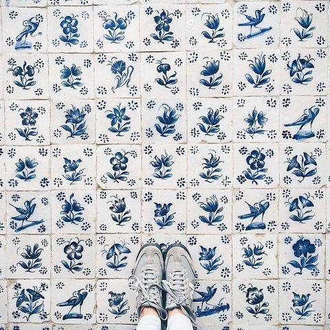 Selfie feet. Suelo y pavimento
