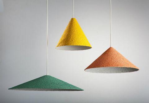 Lampade a sospensione colorate effetto 3d