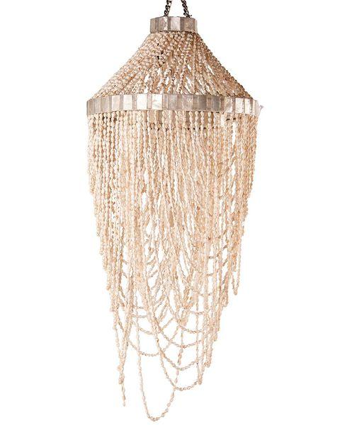 Lámpara de techo con caracolas
