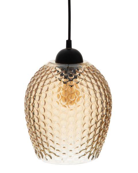 lámpara de cristal tintado en ámbar