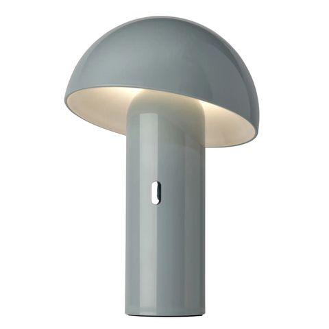 lámpara de mesa led en forma de hongo svamp con funcionamiento a pilas