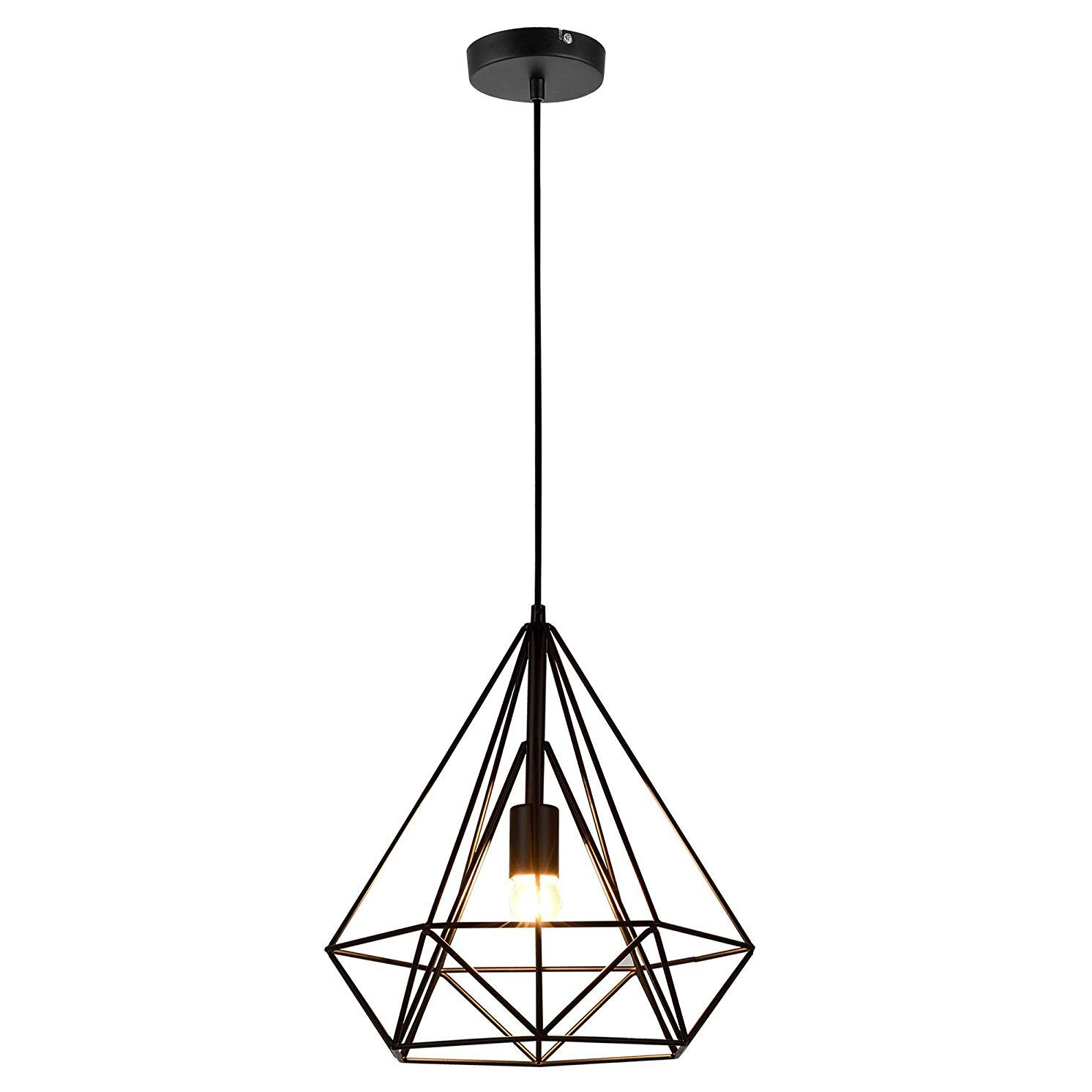 Lámpara de techo de varillas de metal