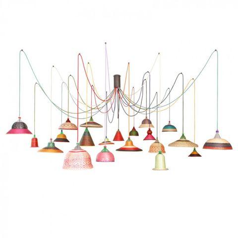 Lámpara maxi de techo. Eperara-Siapidara Set 21, de PET Lamp, firmada por Álvaro Catalán de Ocón